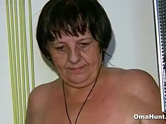 Granny Showered and Pleasured