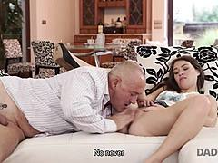 DADDY4K. exquisite pap and boyish hottie sexual intercourse finishes with spunkshot on her ace