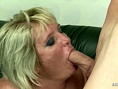 Shaggy overweight mature Grandma Gabi lead on to Fuck by callow guy