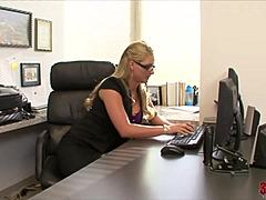 Breasty office moms with Phoenix Marie