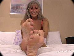 Leilani Teases you With Her Red Wiggling Toes TRAILER mature tube