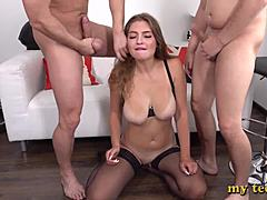 DP into my boss's queen - stiff Non-vaginal fucking